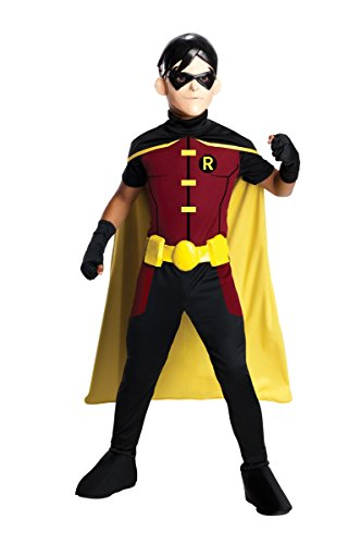 [Rubie's Costume Young Justice Robin Child Costume, Medium] (Kids Batman And Robin Costumes)