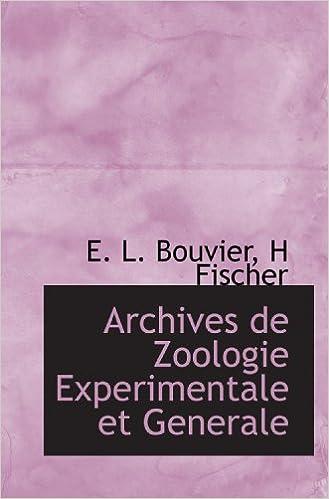 En ligne Archives de Zoologie Experimentale et Generale pdf, epub ebook