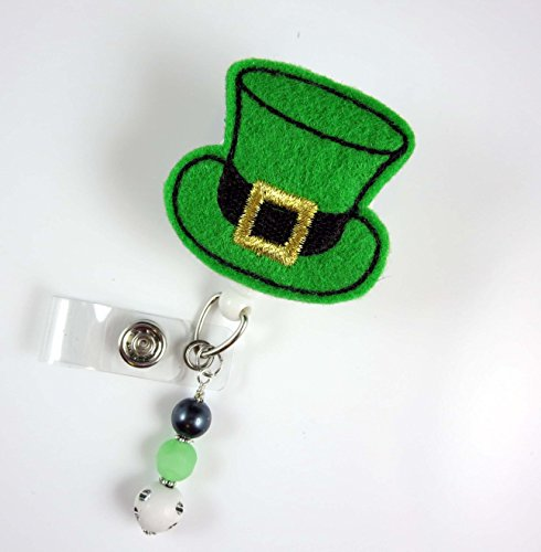 St. Patrick's Day Hat -Nurse Badge Reel - Retractable ID Badge Holder - Nurse Badge - Badge Clip - Badge Reels - Pediatric - RN - Name Badge Holder