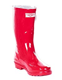 Forever Young Women Tall 14'' Full Rubber Rain Boots, Solid Colourful Styles Waterproof Rainboots