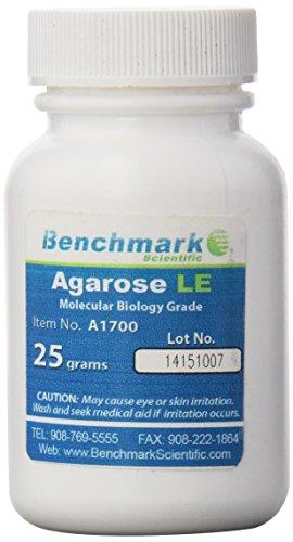 Benchmark Scientific A1700 Agarose LE Powder, Highly Purified for Molecular Biology, 25 g ()