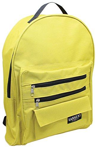 Trim Sargent - Sargent Art 98-5017 Economy Backpack, Dark Yellow/Mustard with Black Zippers/Trim