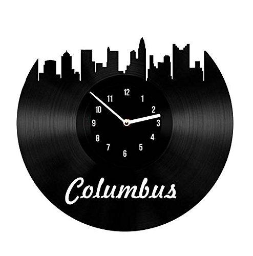 choma Vinyl Clock Columbus City