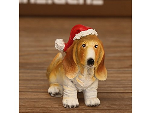 FenBuGu-JP 樹脂ミニチュアクリスマスクラフト装飾小動物サンタクロース装飾品DIYクリスマスギフトおもちゃ(ライトブラウン)