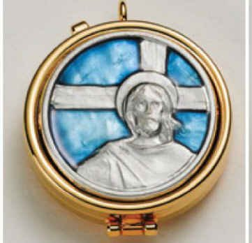- Jesus Enamel and Silver Plated Pyx. 2