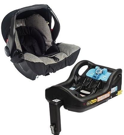 Graco Snug-Safe ISOFIX Asiento coche (pizarra) Base y llevador bebes