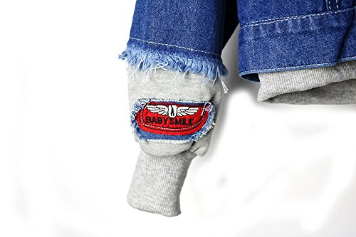 Hop Patches Hip Giacche Casuale Manica Cappuccio Giubotti Denim Battercake Donna Giacca Con Blu Monopetto Ragazze Mit Moda Lunga Jeans Hipster Vintage Giubbino Jacket Donne nOH7qzZ