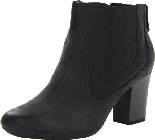 Valle Clarks Stroll Womens Black Boot 7SRwqFxS
