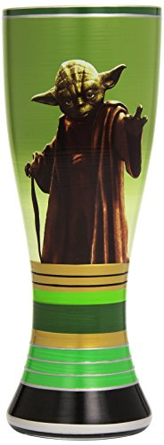 Vandor 99120 Star Wars Yoda 20 oz Hand Painted Glass, - With Glasses Yoda