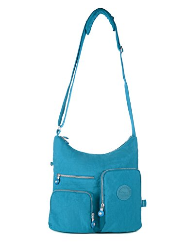 Turquoise Multi Blue Medium Oakarbo Nylon 1203 Pocket Bag Crossbody gYR08Yn