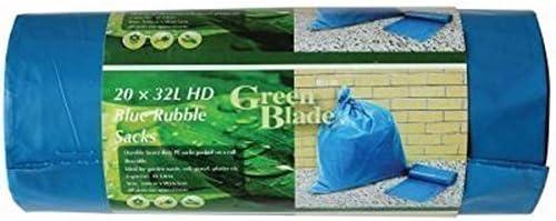 20 R/ésistant Durable Bleu Rubble Sacks Sacs Constructeurs Gravier Brique Sol