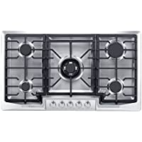 Empava 36 Stainless Steel 5 Italy Sabaf Burners Stove Top Gas Cooktop EMPV-36GC881