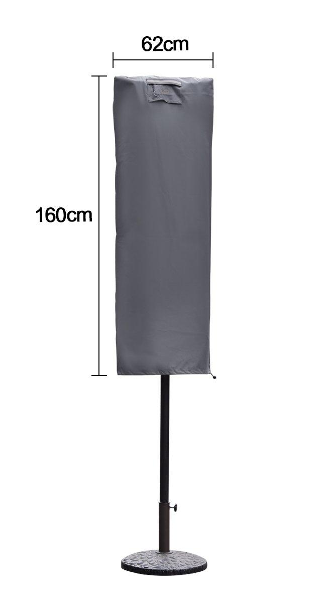 200 cm /× 150 cm Sekey Ombrellone Copertura per /Ø 200 cm 200 cm /× 125 cm Ombrelloni,Gris