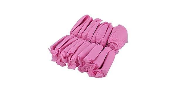 Amazon.com: eDealMax tela no tejida elástica Inicio al aire libre diseño de la banda zapatos cubierta protectora de 100pcs Rosa: Kitchen & Dining
