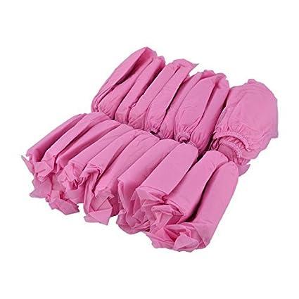 eDealMax tela no tejida elástica Inicio al aire libre diseño de la banda zapatos cubierta protectora