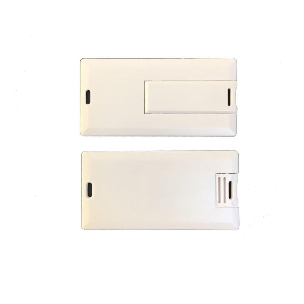 MiniホワイトプラスチッククレジットカードUSBフラッシュドライブビジネスcooperateフラッシュカード(10個) 64GB B07DRCTGMC   64GB