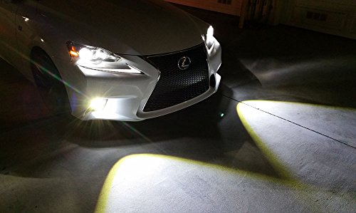 iJDMTOY Lexus F-Sport 15W High Power Projector LED Fog Light Kit For 2014-2016 Lexus IS200t IS250 IS300 IS350, 6000K Xenon White by iJDMTOY (Image #8)