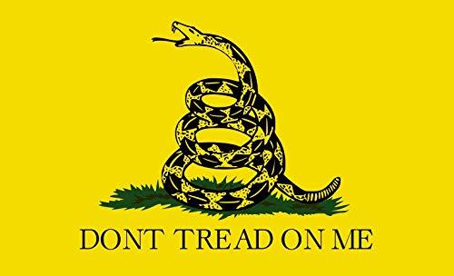 (StickerTalk 5in x 3in Gadsden Flag)