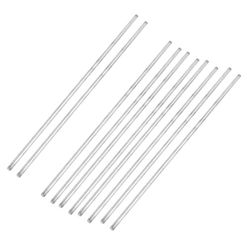 uxcell 10Pcs 3mm Dia 200mm Length Stainless Steel Round Rod Shaft for RC Toy Car