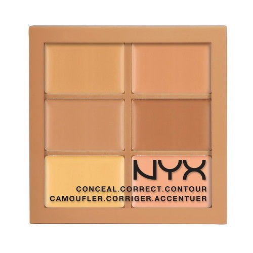 NYX Conceal Correct Contour Palette 3CP02 Medium (0.05 Oz) ()