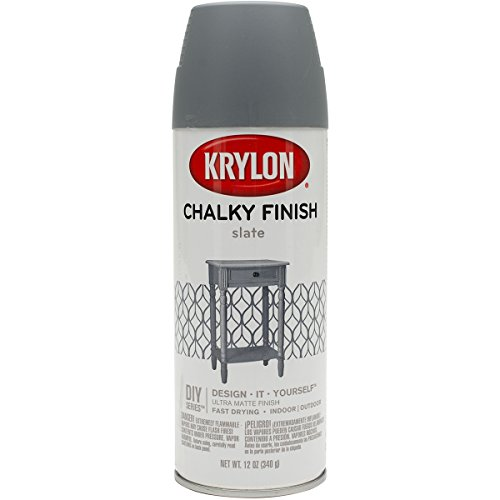 Krylon K04104007 Chalky Finish Spray Paint, Anvil Gray, 12 Ounce