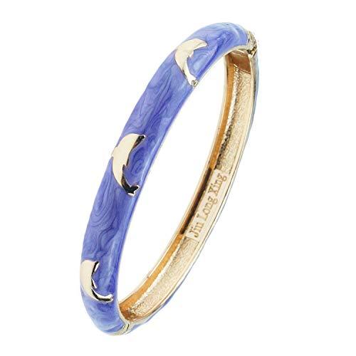 (UJOY Fashion Jewelry Bracelet Enamel Cute Dolphin Cloisonne Bangle Hoilday Gift Box 55B45)