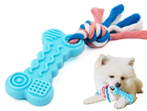 Comtim Puppy Chew Toys, Dog Durable Teething Toys with Rope for Puppies and Small Dogs