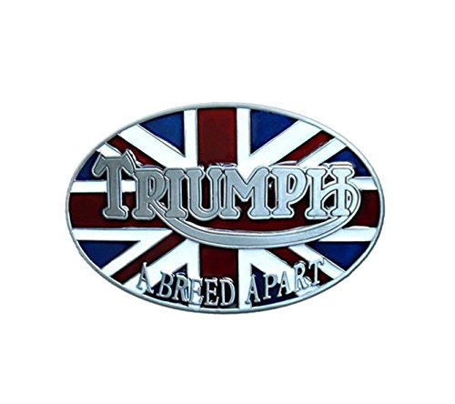 TRIUMPH 'A BREED APART' METAL BELT BUCKLES (Pewter Biker Belt Buckle)