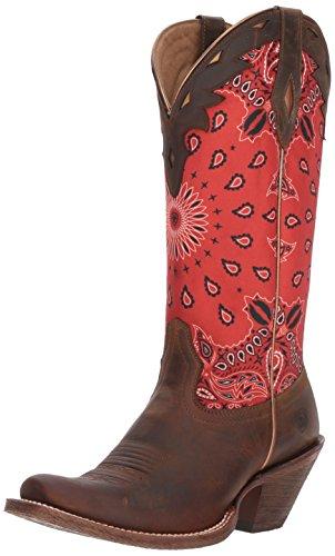 ARIAT Women's Circuit Cheyenne Western Boot, Cattle Creek Brown/red Paisley Print, 8.5 B US -