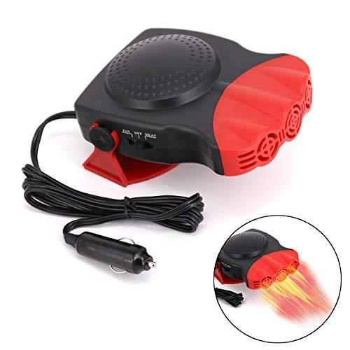 Upgrade Car Heater, 2 in 1 Portable Fast Heating Car Heater with Heating & Cooling Function Defroster Defogger 12V 150W, 3-Outlet Plug Adjustable Thermostat in Cigarette Lighter Black Friday Deals 2019