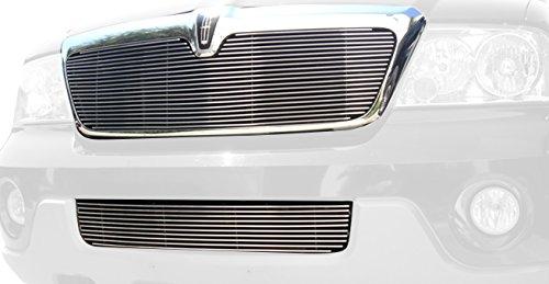 TRex Grilles 20695 Horizontal Aluminum Polished Finish Billet Grille Insert for Lincoln Navigator ()