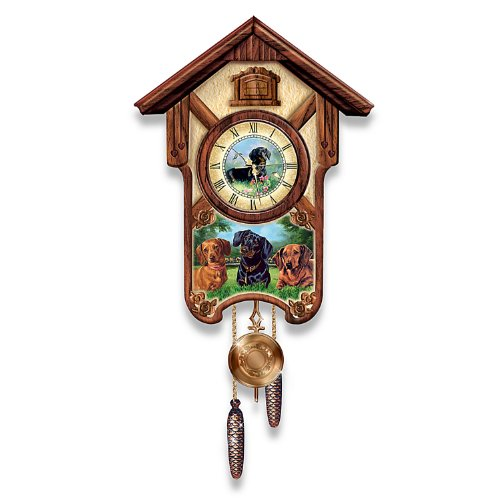 Linda Picken Delightful Dachshunds Cuckoo Clock - By The Bradford ()