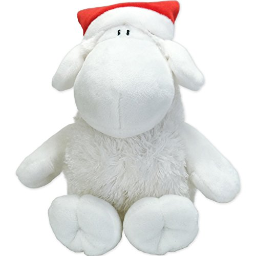 Sheepworld 49772Plush Santa-Plush Sheep Santa Hat, Height 18cm, Plush, White, Red, 15x 15x 18cm