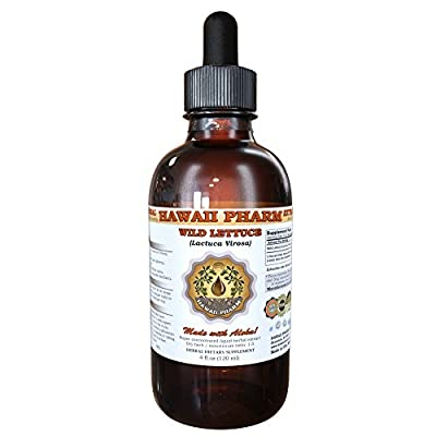 Wild LETTUCE (Lactuca Virosa) Liquid Extract, Organic Wild Lettuce Dried Herb Tincture, Herbal Supplement, Made in USA by Hawaii Pharm