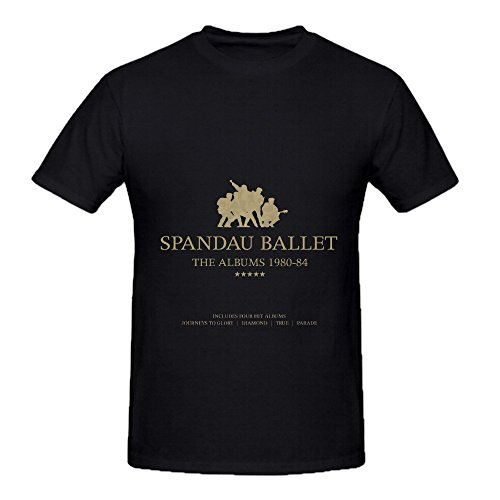 Price comparison product image Spandau Ballet The Albums 1980 84 Soundtrack Men O Neck Slim Fit Shirts Black