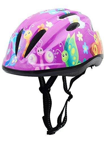 BeBeFun Pink Girl Toddler and Kids Multi-Sport Bike super lightweight Helmet (Butterfly Windmill) For Sale