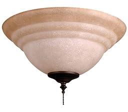 Ellington ELKT126-11 2 Light Bowl Fan Light Kit with Tea-Stained Glass