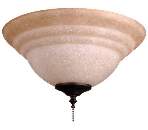 Ellington Elkt126 11 2 Light Bowl Fan Light Kit With Tea Stained Glass