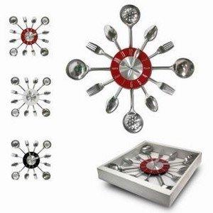Pendule Horloge En Inox Murale Pour Decoration De Cuisine Design