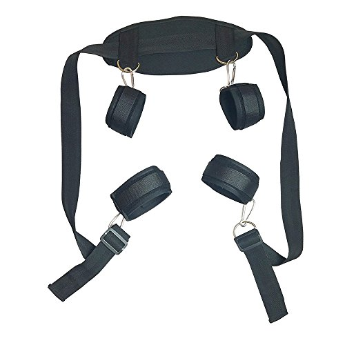Cozy Feel Bondage Restraint Kit with Adjustable Soft Wrist and Ankle Cuffs J408 by CozyFeel