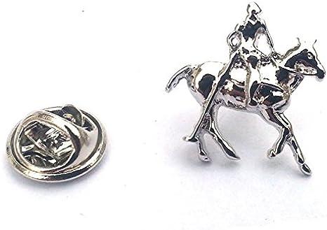 De Polo caballo y jinete de la solapa insignia para montar placas ...