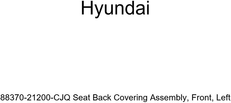 Front Left Genuine Hyundai 88370-21200-CJQ Seat Back Covering Assembly