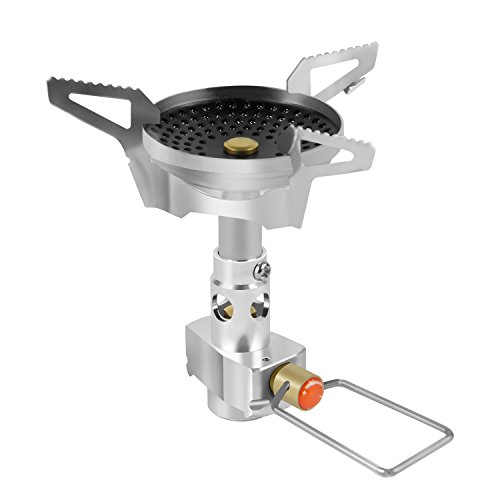 hikevalley Camping Stove, Ultralight Anti-Scald and Windproof Function Backpacking Portable Burner for Outdoor Hiking Cooking