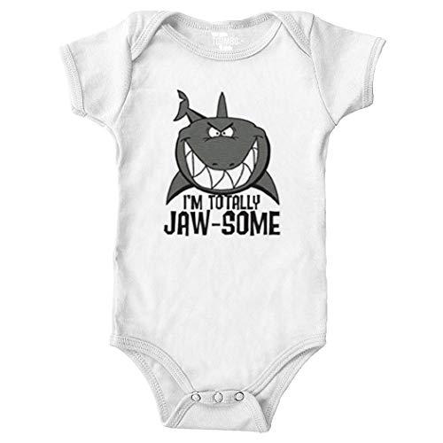 I'm Totally JAW-Some - Shark Bodysuit (White, Newborn) (Wht Fin)