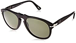 Persol Sunglasses Black Crystal Green P