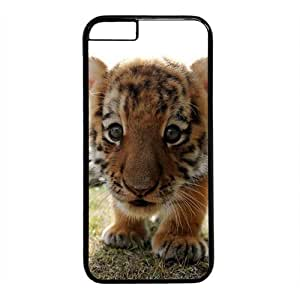 """Baby Tiger Theme Case for iPhone 6 Plus (5.5"""") PC Material Black by runtopwell"""