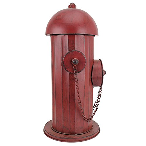 Design Toscano Fire Hydrant Statue Puppy Pee Post and Pet Storage Container, Medium 18 Inch, Metalware, Full Color by Design Toscano (Image #2)
