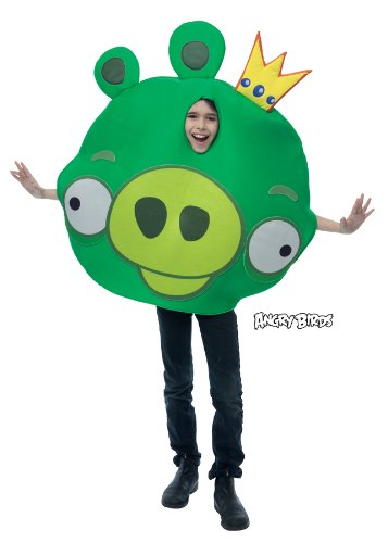 Green Angry Bird Costumes - Rovio Angry Birds - King Pig Child Costu