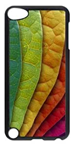 Colorful Leaves PC Hard Case Cover for iPod Touch 5 - Transparent