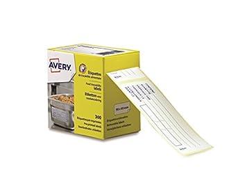 Avery ETIHACCP Rollo de 300 etiquetas de trazabilidad alimentaria, preimpresas, 98 x 40 mm, color blanco